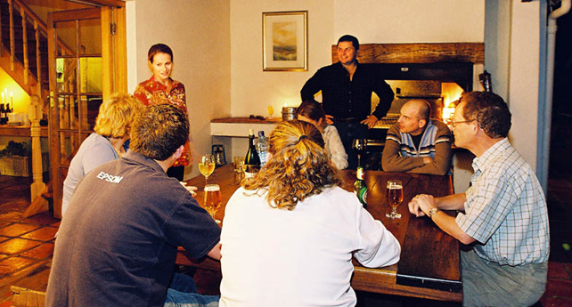 Group seated around a table